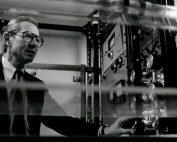 Black and white photo of Allan Hoffman, circa 1970s