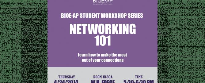 BIOE-AP Student Workshop Series: Networking 101
