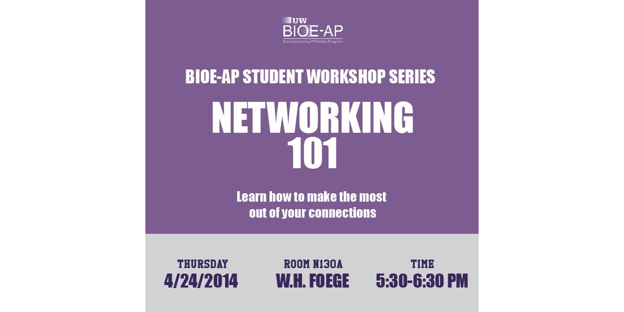 BIOE-AP Student Workshop Series: Networking 101