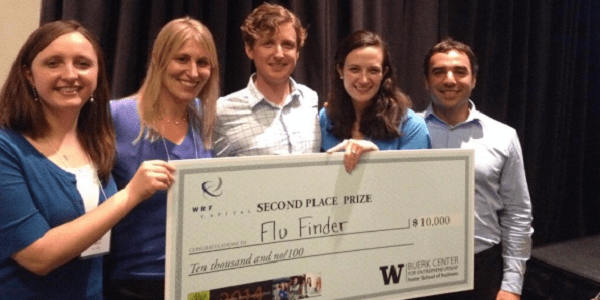 2014 UW Business Plan Competition 2nd place prize recipient, FluFinder