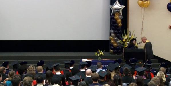 Cecilia Giachelli, David C. Auth and Class of 2014 at Bioengineering Departmental Graduation Ceremony