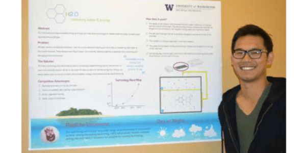 Kurt Kung, UW electrical engineering student and manager of the Pollack lab