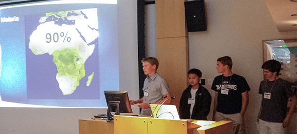 UW Bioengineering summer camp participants deliver presentation
