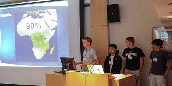 UW Bioengineering summer camp participants deliver presentation