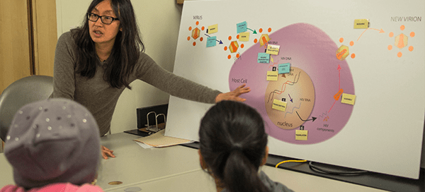 UW Bioengineering assistant professor Kim Woodrow leads Gates Foundation youth outreach event