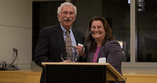UW Bioengineering professors Buddy Ratner and Cecilia Giachelli at UW Medicine 2014 Inventor of the Year event