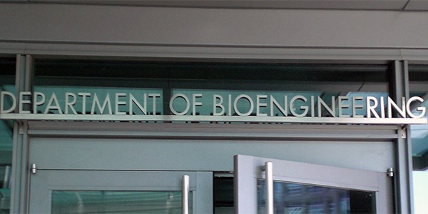 Department of Bioengineering building sign