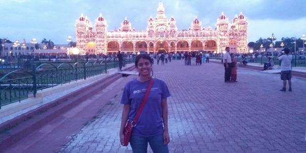UW Bioengineering student Krittika D'Silva in India