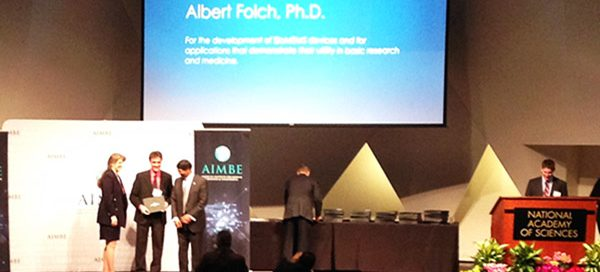 Albert Folch at AIMBE induction ceremony