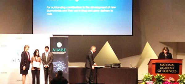 Suzie Pun at AIMBE induction ceremony