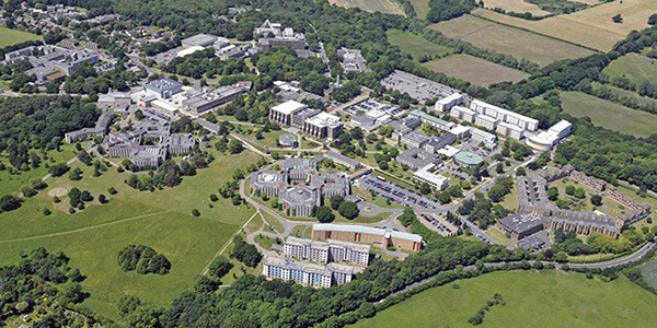 Aerial view of University of Kent Canterbury campus