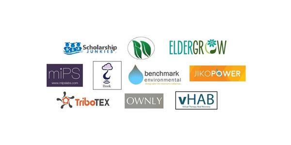Composite image of logos of startups in UW Foster School of Business' 2015 Jones & Foster Accelerator program