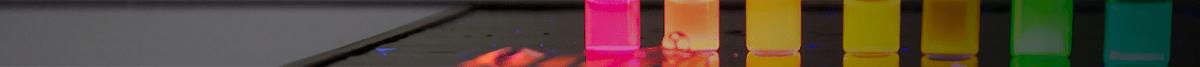 Colorful image of nanotubes in UW Bioengineering lab