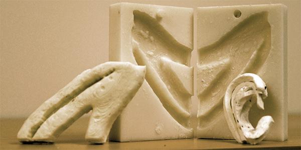 3-d printed rib model