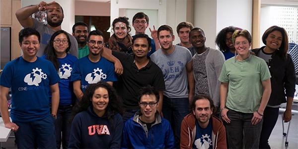 Student participants in CSNE Hackathon