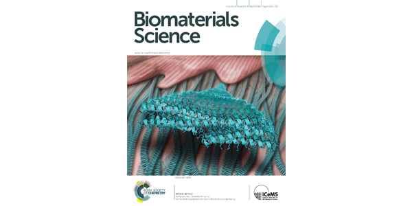 April cover of Biomaterials Science