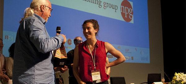Alissa Bleem receives award at Biofilms7 conference