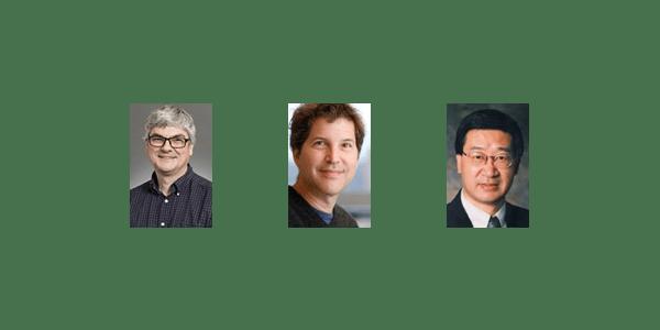 Bioengineering faculty Herbert Sauro, David Baker and Dayong Gao