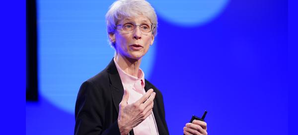 Nancy Allbritton presenting lecture