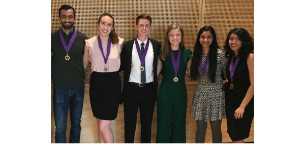 Group photo of 6 2019 BioE Husky 100 students
