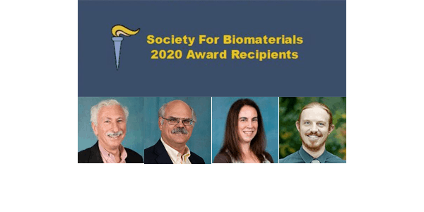 Society for Biomaterials Awards 2020 collage of winners