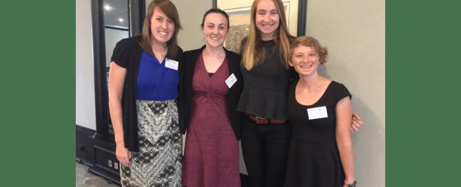 Emily Krogstad, Lael Wentland, Anna Blakney and Abbi Helfer