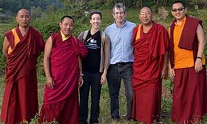 Eric Chudler with monks