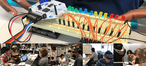 Students completing in 2017 CSNE Hackathon