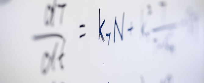 Equation on white board