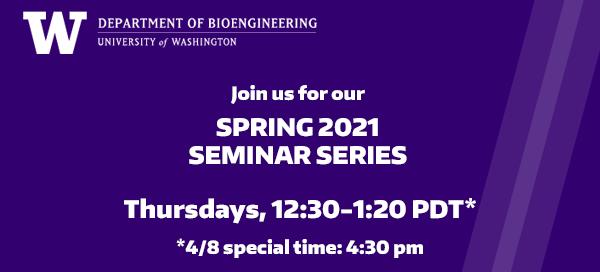 Spring 2021 Seminar Series header