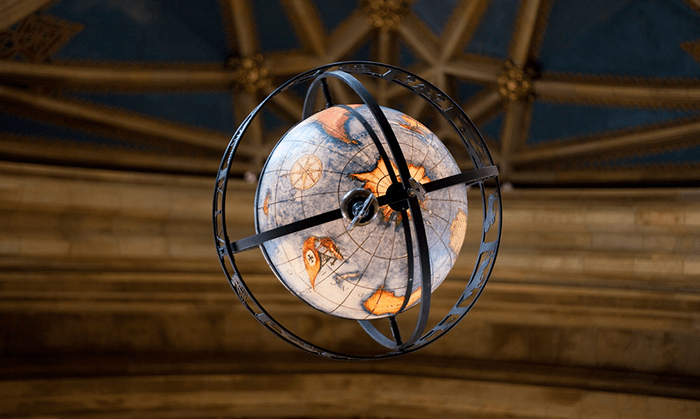 Globe in Suzzallo Library