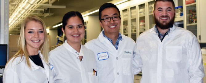IDRI interns, including B.S. Bioengineering graduate Jasmine Fuerte-Stone