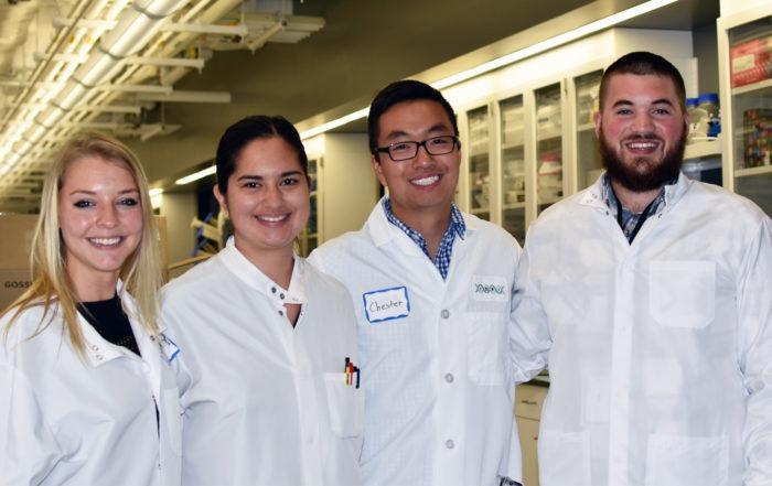 IDRI interns, including B.S. Bioengineering graduate Jasmine Fuerte-Stone