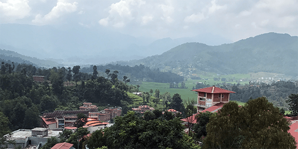 Skyline of mountains in Nepal
