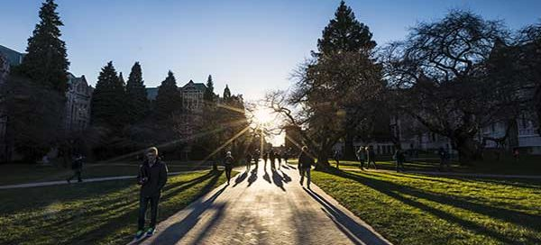 A winter afternoon in the UW Quad