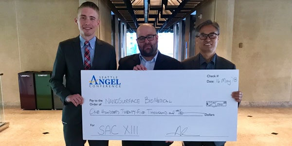 NanoSurface Biomedical with Seattle Angel Conference prize money